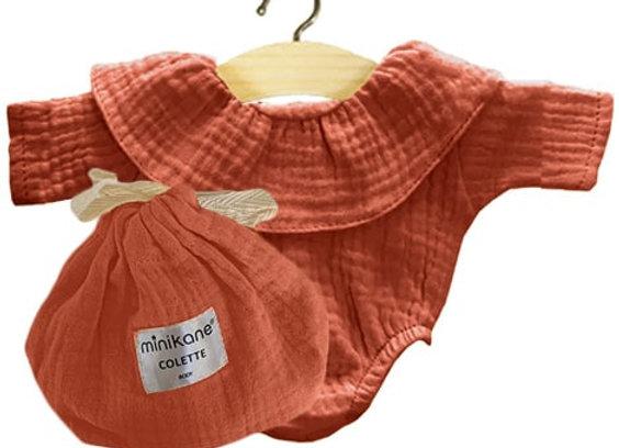 Body Colette coton double gaze Terre de sienne - Minikane