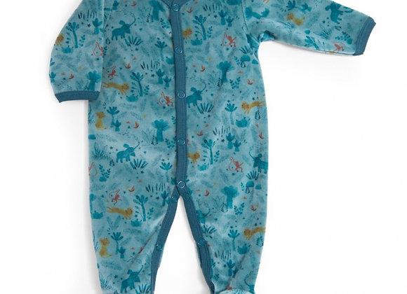 Pyjama velours bleu nuit Sous mon baobab - Moulin Roty