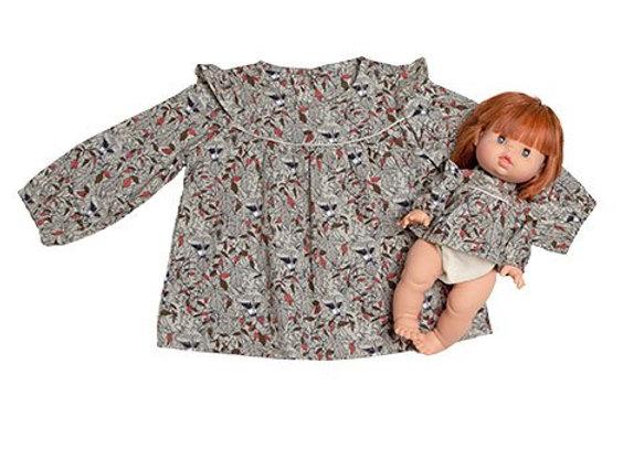 """Blouse """"MARINA"""" en coton Roxy - Collection Duo - Minikane"""