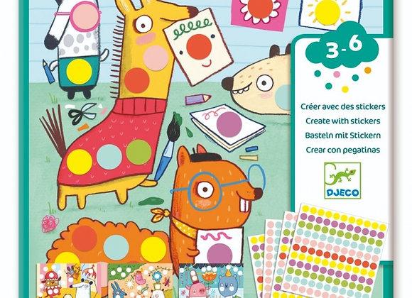 Stickers Créer avec des Gommettes Rondes - Djeco