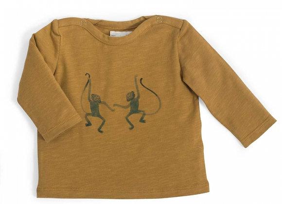 Célestin Tee-Shirt jersey bronze motif Singes Sous mon baobab - Moulin Roty