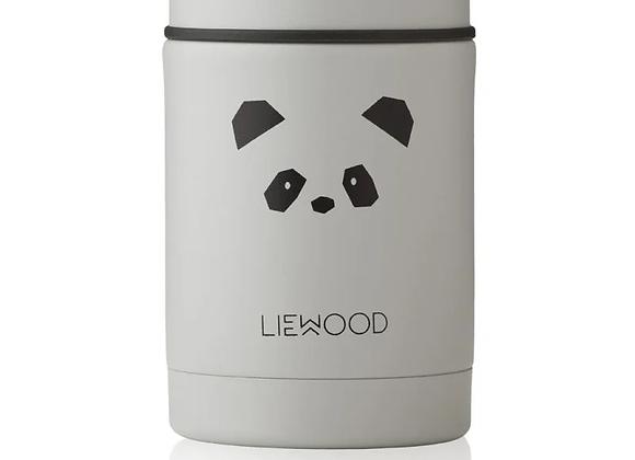 Pot alimentaire isotherme Panda gris clair - Liewood
