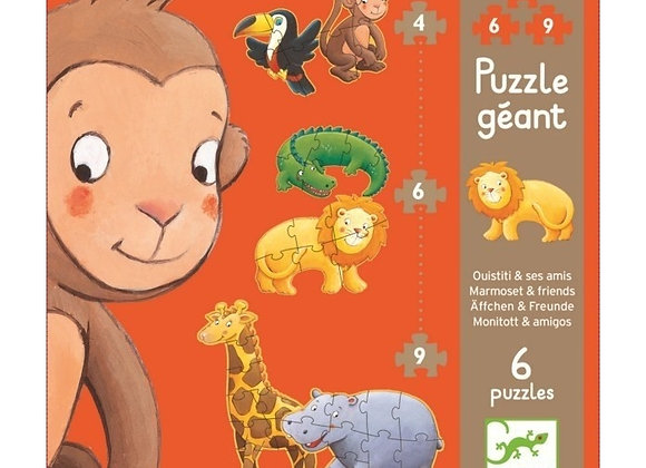 Puzzle géant Ouistiti et ses amis - Djeco