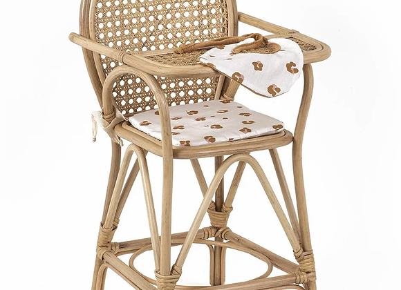 Chaise haute et sa galette en coton exclusif Holly+ bavoir - Minikane