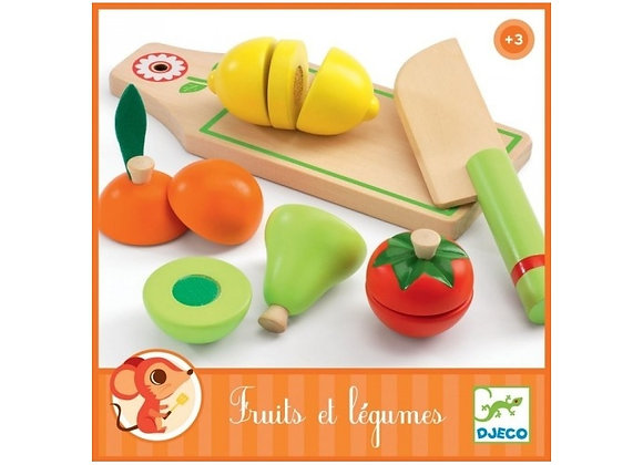 Jouet d'imitation Fruits et légumes à couper - Djeco