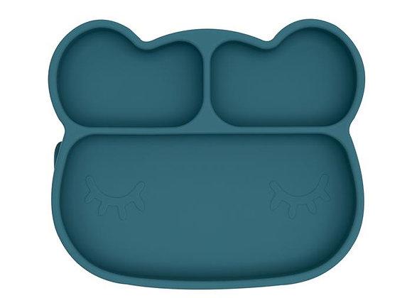 Assiette en silicone ours blue dusk