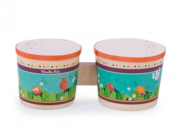 Tambour bongo Dans la jungle - Moulin Roty