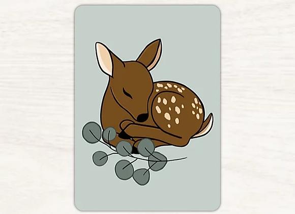 Carte postale faon - Lily à la guimauve