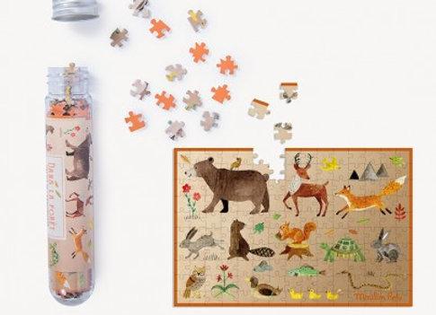Mini puzzle Dans la forêt 150 pièces Le Jardin du Moulin - Moulin Roty