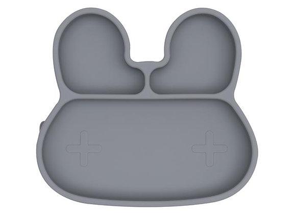 Assiette en silicone Lapin grey