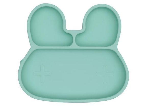 Assiette en silicone Lapin Mint