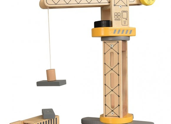 Grue de chantier en bois - Egmont Toys
