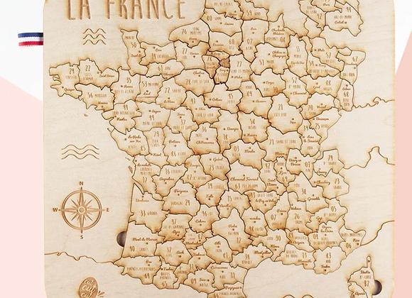 Puzzle carte de France - Cucutcut Codet