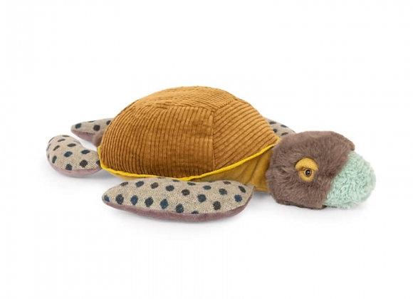 Peluche petite tortue Tout autour du monde - Moulin Roty