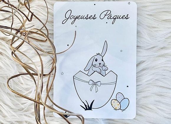 Carte postale Joyeuses Pâques - Lily à la guimauve