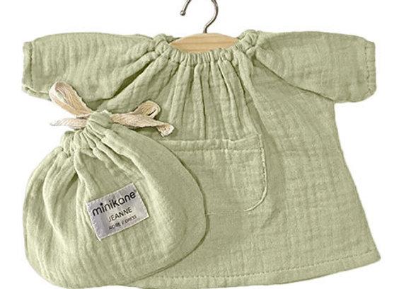Robe Jeanne en coton double gaze Pistache - Minikane