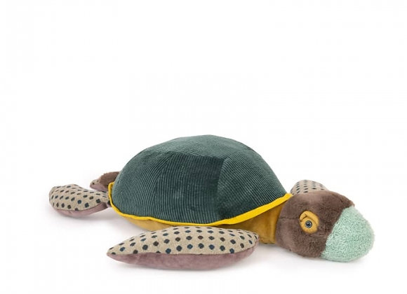 Peluche grande tortue Tout autour du monde - Moulin Roty