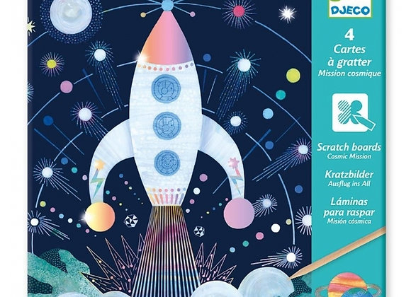Cartes à gratter Mission cosmique - Djeco