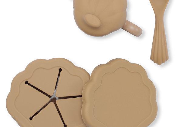 Set de Repas 5 Pièces Coquillage Terracotta - Konges Sløjd