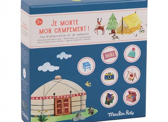 Jeu de mémoire Je monte mon campement Le Jardin du Moulin - Moulin Roty