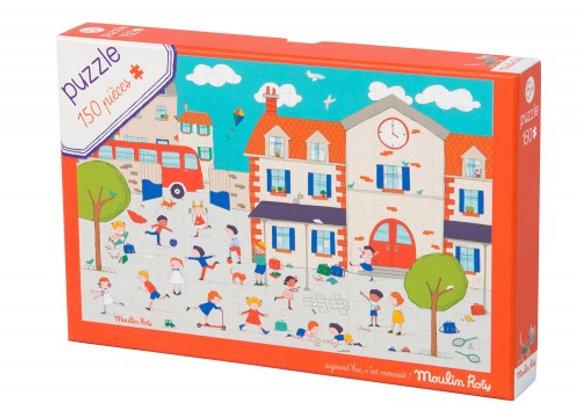 Puzzle A la récré 150 pièces - Moulin Roty