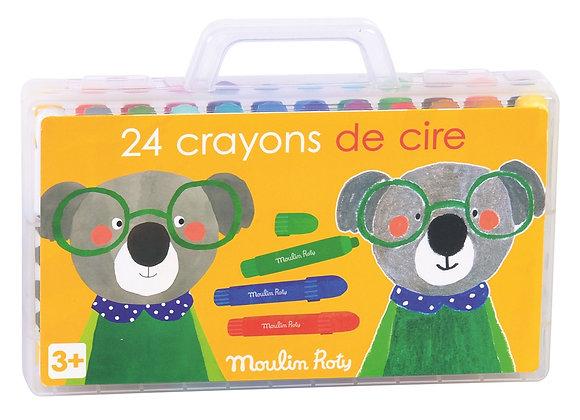 Boîte de 24 Crayons de Cire - Moulin Roty