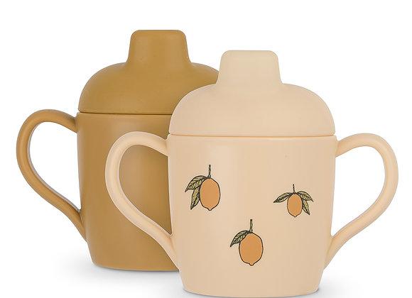 Lot de 2 Tasses d'Apprentissage citron - Konges Sløjd