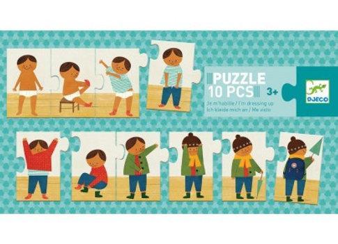 Puzzle éducatif trio Je M'habille - Djeco