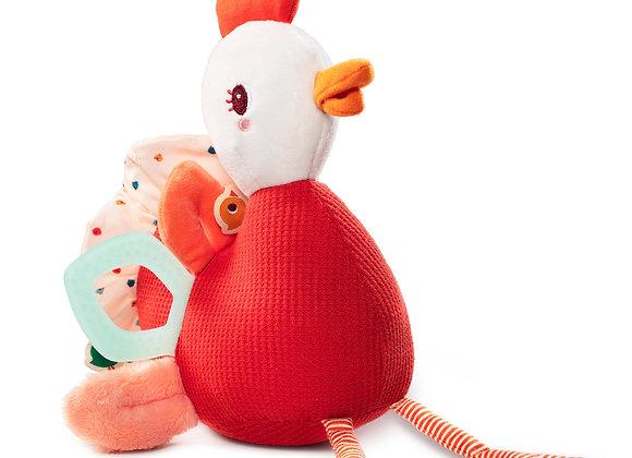 Peluche d'activités Paulette la poule - Lilliputiens