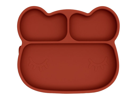 Assiette silicone ours rust