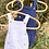 Thumbnail: Barboteuse à bretelles blanc - BB&Co