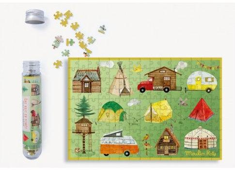 Mini puzzle Une nuit en forêt 150 pièces Le Jardin du Moulin - Moulin Roty