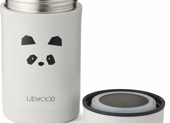Grand pot alimentaire isotherme Panda gris - Liewood