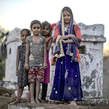 Village girls, Rajasthan India