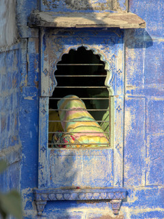 Blue City window, Jodhpur