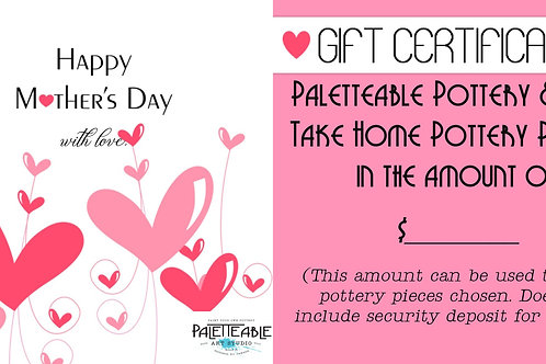 Paletteable Pottery Mothers Day Gift Card