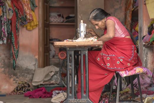 Seamstress, Narla Darwai India.