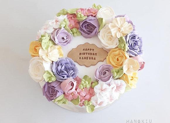 Flower Cake Fresh Cream