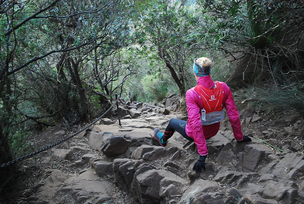 The last 200 meter before the summit of Mt Warning