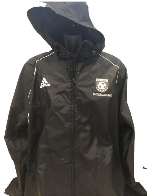 0cb3aa9d8e63 Black White Adidas Core 18 Rain Jacket