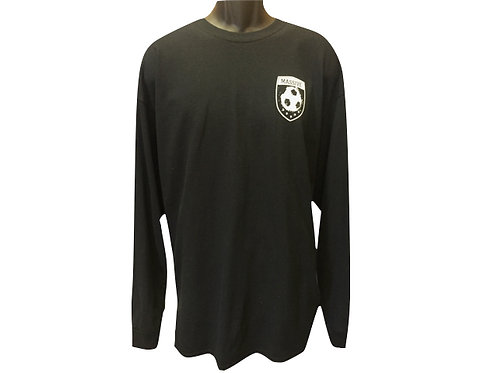 Men's Black Long Sleeved Top with Massive Logo