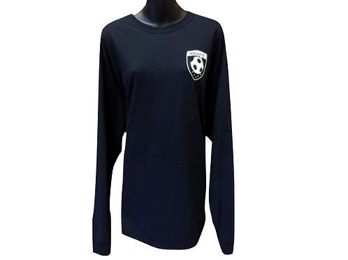Women's Black Long-Sleeved Cotton T-Shirt with Massive Logo