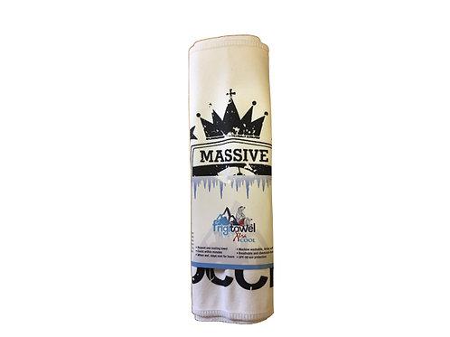 White Massive Soccer Sweat Towel