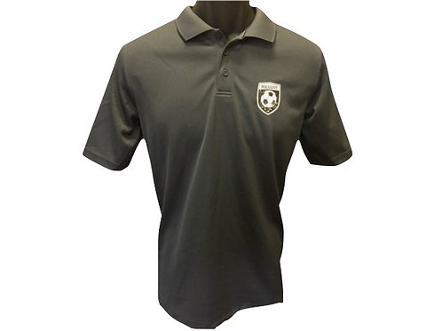 Men's Dark Grey Polyester Polo Shirt with Massive Logo