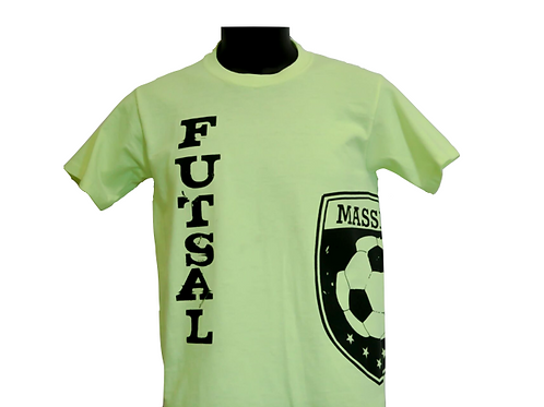 Unisex Light Green Futsal T-Shirt with Vertical Writing and Massive Logo
