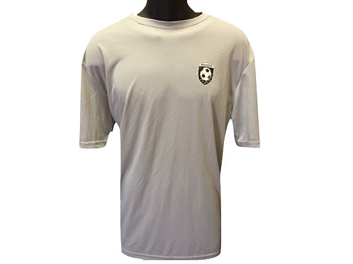 Mens Light Grey Polyester T-shirt with Massive Logo