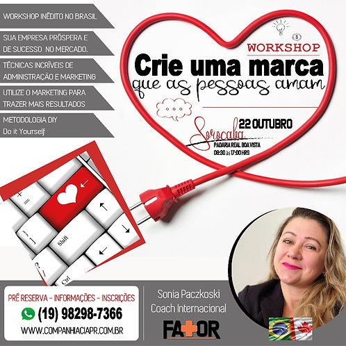 WORKSHOP CRIE UMA MARCA QUE AS PESSOAS AMAM