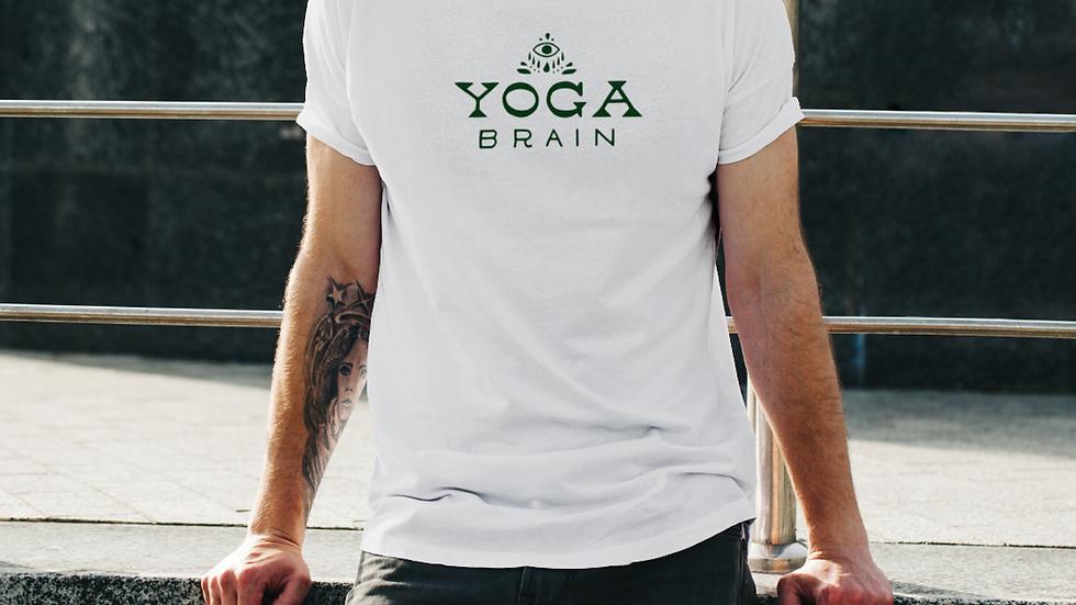 Yoga Brain Plain White Tee