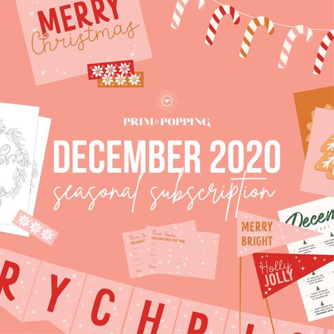 December Christmas Seasonal Printable Subscription