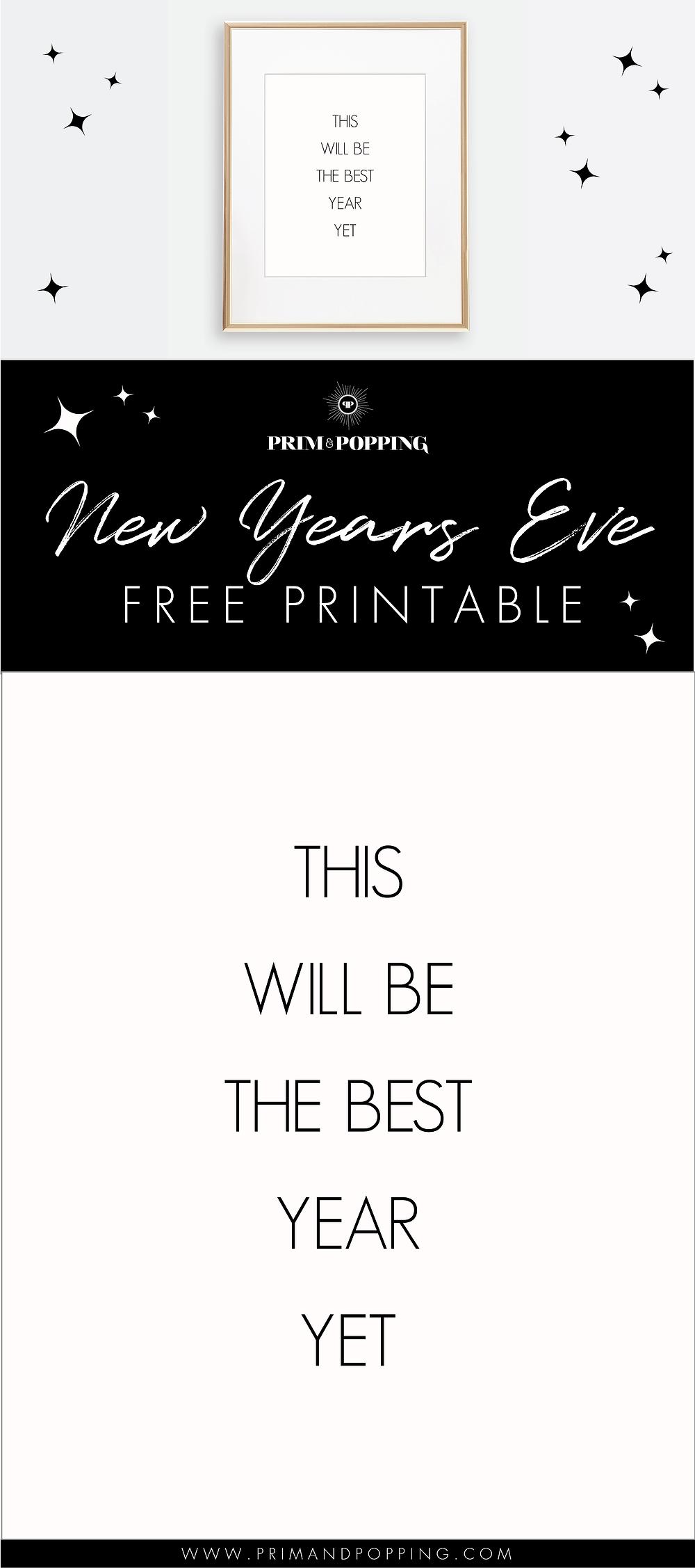New Years Eve Free Printable Art Print